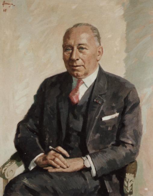 Portret van A.J. Verhage