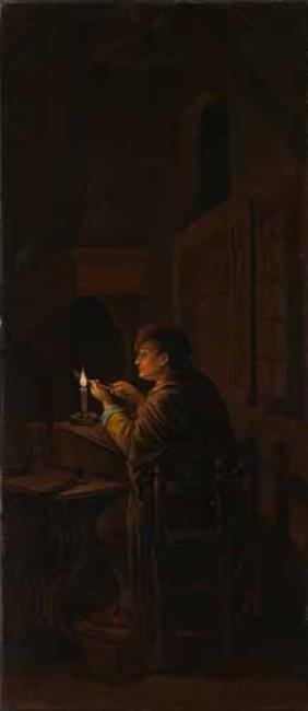 "<a class=""recordlink artists"" href=""/explore/artists/48107"" title=""Willem Joseph Laquy""><span class=""text"">Willem Joseph Laquy</span></a> after <a class=""recordlink artists"" href=""/explore/artists/23986"" title=""Gerard Dou""><span class=""text"">Gerard Dou</span></a>"