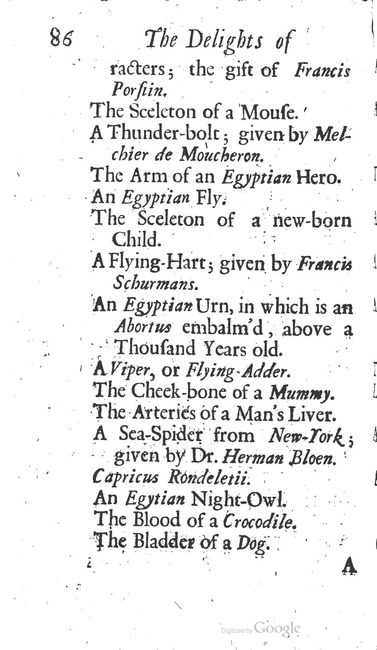 paginanummer 86, Leiden, 1695-08, The Delights of Holland, or: A Three Months Travel about that and the other Provinces. With Observations and Reflections on their Trade, Wealth, Strength, Beauty, Policy, &c. Together with A Catalogue of the Rarities in the Anatomical School at Leyden
