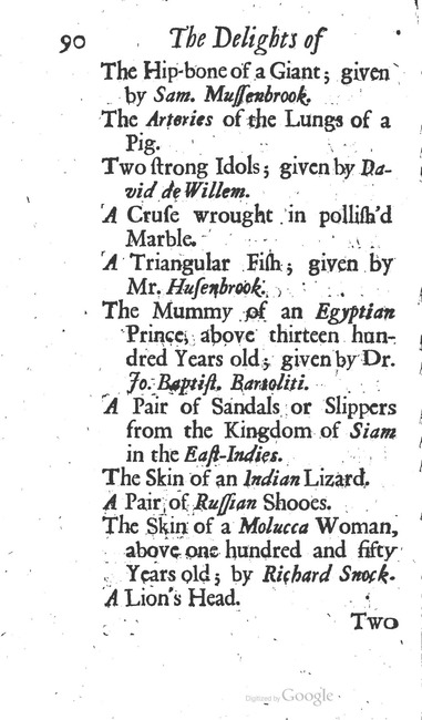 paginanummer 90, Leiden, 1695-08, The Delights of Holland, or: A Three Months Travel about that and the other Provinces. With Observations and Reflections on their Trade, Wealth, Strength, Beauty, Policy, &c. Together with A Catalogue of the Rarities in the Anatomical School at Leyden