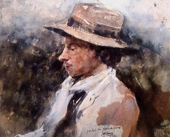 Portret van Henry De Groux (1866-1930)