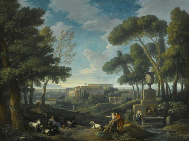 "<a class=""recordlink artists"" href=""/explore/artists/9134"" title=""Jan Frans van Bloemen""><span class=""text"">Jan Frans van Bloemen</span></a>"