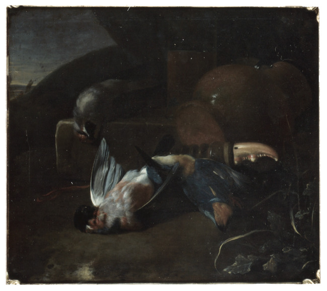 "toegeschreven aan <a class=""recordlink artists"" href=""/explore/artists/39400"" title=""Melchior d' Hondecoeter""><span class=""text"">Melchior d' Hondecoeter</span></a>"