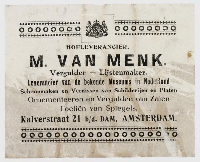 M. van Menk, Amsterdam