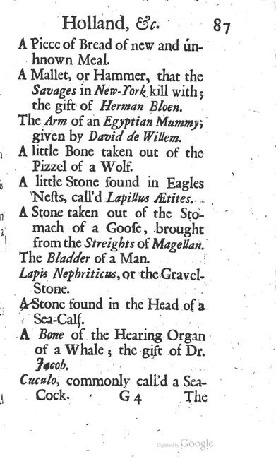 paginanummer 87, Leiden, 1695-08, The Delights of Holland, or: A Three Months Travel about that and the other Provinces. With Observations and Reflections on their Trade, Wealth, Strength, Beauty, Policy, &c. Together with A Catalogue of the Rarities in the Anatomical School at Leyden
