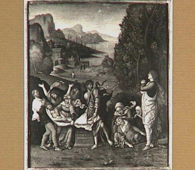 "follower of <a class=""recordlink artists"" href=""/explore/artists/52404"" title=""Andrea Mantegna""><span class=""text"">Andrea Mantegna</span></a> possibly <a class=""recordlink artists"" href=""/explore/artists/61802"" title=""Bernardo Parentino""><span class=""text"">Bernardo Parentino</span></a>"