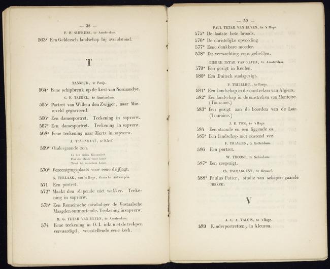 Tom, Jan Bedijs, catalogusnummer 584, Een staande en een liggende os