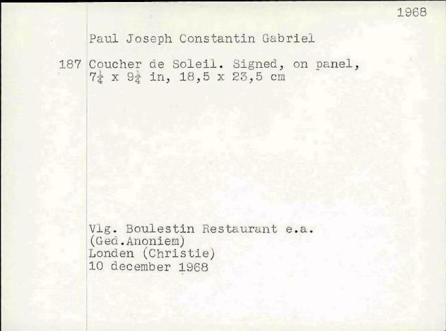 Gabriël, Paul Joseph Constantin, fichenummer 1166697