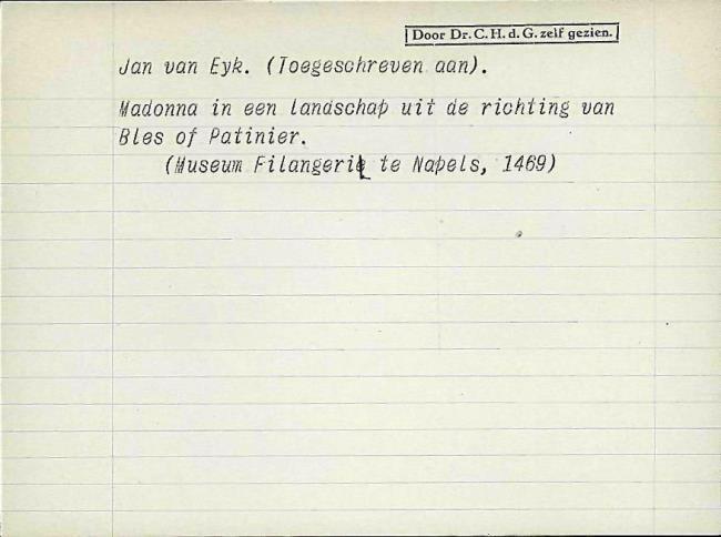 Eyck, Jan van, card number 1145905