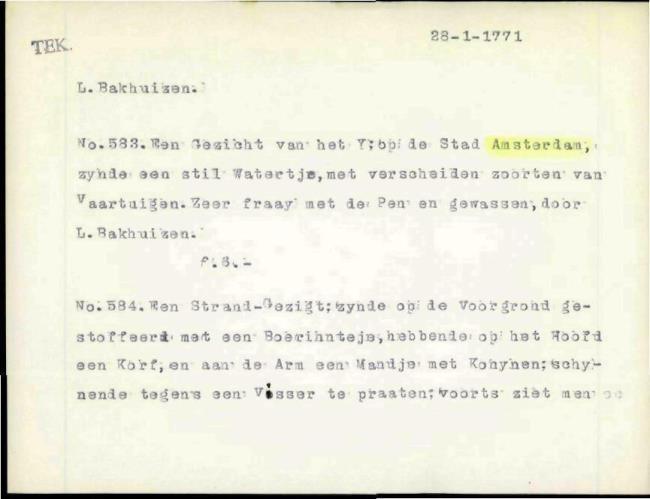 Bakhuizen, Ludolf, box number 014