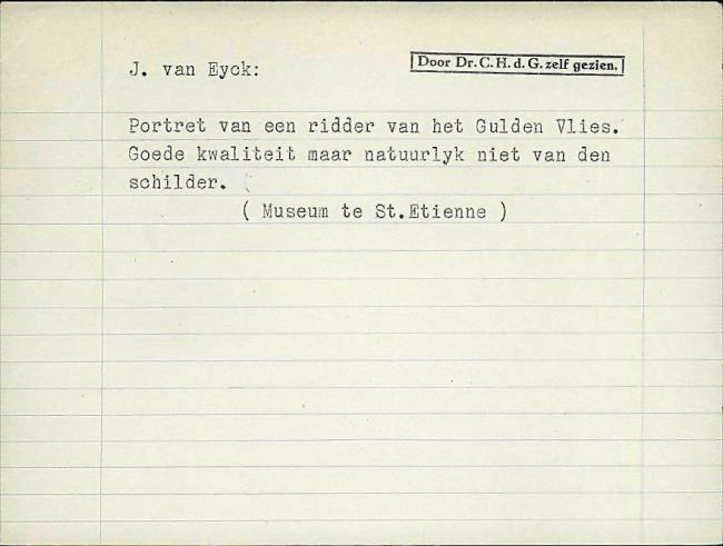 Eyck, Jan van, card number 1145909