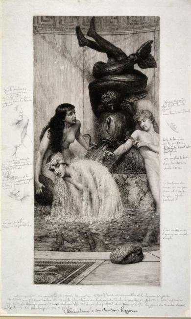 "naar <a class=""recordlink artists"" href=""/explore/artists/1272"" title=""Lourens Alma Tadema""><span class=""text"">Lourens Alma Tadema</span></a> <a class=""recordlink artists"" href=""/explore/artists/65492"" title=""Paul Adolphe Rajon""><span class=""text"">Paul Adolphe Rajon</span></a>"