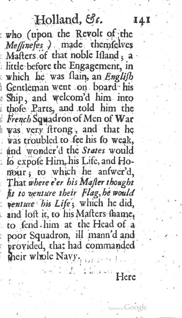 paginanummer 141, Amsterdam, 1695-08, The Delights of Holland, or: A Three Months Travel about that and the other Provinces. With Observations and Reflections on their Trade, Wealth, Strength, Beauty, Policy, &c. Together with A Catalogue of the Rarities in the Anatomical School at Leyden
