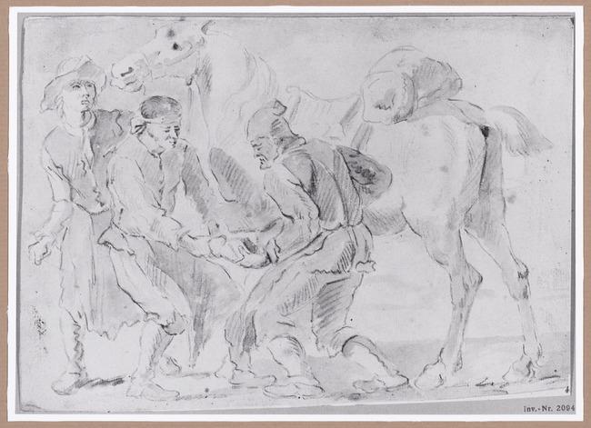 "manner of/circle of <a class=""recordlink artists"" href=""/explore/artists/9136"" title=""Pieter van Bloemen""><span class=""text"">Pieter van Bloemen</span></a>"