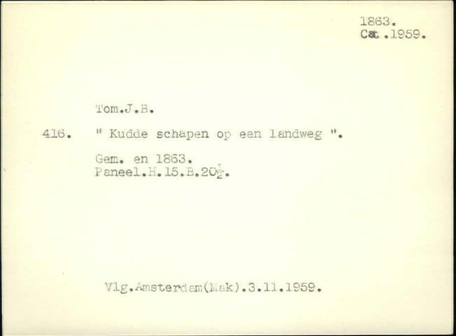 Tom, Jan Bedijs, baknummer 262