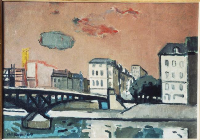 Stadsgezicht Luik met brug over de Maas