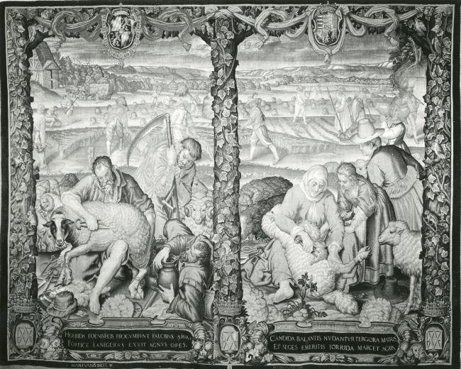 "tapestry workshop of <a class=""recordlink artists"" href=""/explore/artists/466916"" title=""Hans van der Biest""><span class=""text"">Hans van der Biest</span></a>"