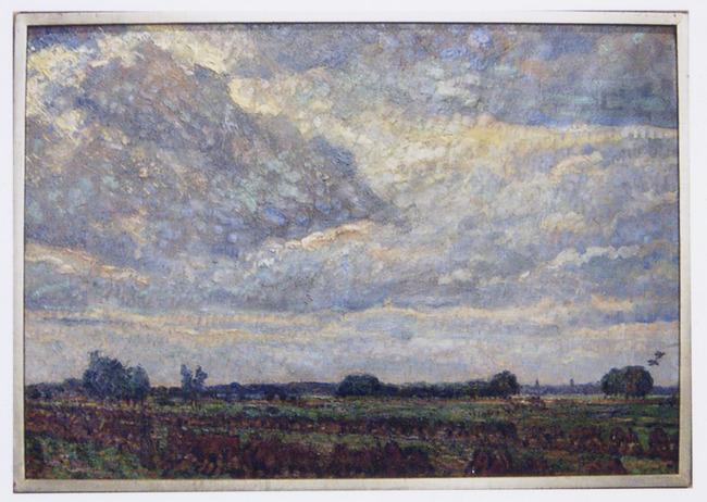 Buïg weer (landschap bij Montfoort)