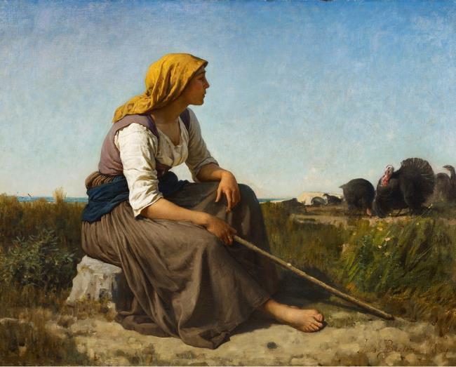"<a class=""recordlink artists"" href=""/explore/artists/12424"" title=""Jules Breton""><span class=""text"">Jules Breton</span></a>"