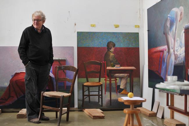 Barend Blankert in zijn atelier
