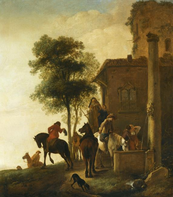 """<a class=""""recordlink artists"""" href=""""/explore/artists/85690"""" title=""""Philips Wouwerman""""><span class=""""text"""">Philips Wouwerman</span></a>"""