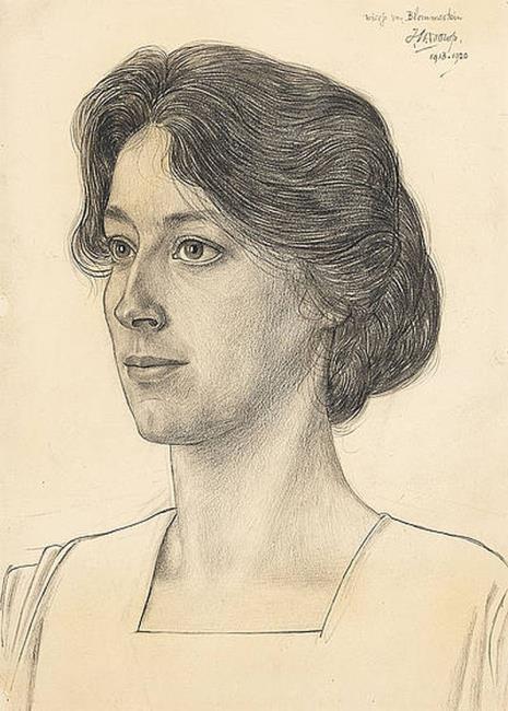 Portrait of Louise Alice Andrine (Wiesje) van Blommestein (1882-1965)