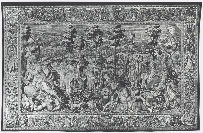 "tapestry workshop of <a class=""recordlink artists"" href=""/explore/artists/134202"" title=""François Spiering""><span class=""text"">François Spiering</span></a> after design of <a class=""recordlink artists"" href=""/explore/artists/52262"" title=""Karel van Mander (I)""><span class=""text"">Karel van Mander (I)</span></a>"