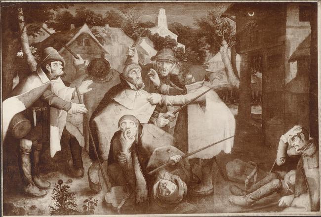 "<a class=""recordlink artists"" href=""/explore/artists/13293"" title=""Pieter Brueghel (II)""><span class=""text"">Pieter Brueghel (II)</span></a> or attributed to <a class=""recordlink artists"" href=""/explore/artists/125644"" title=""Nicolas Baullery""><span class=""text"">Nicolas Baullery</span></a> possibly after <a class=""recordlink artists"" href=""/explore/artists/13292"" title=""Pieter Bruegel (I)""><span class=""text"">Pieter Bruegel (I)</span></a>"
