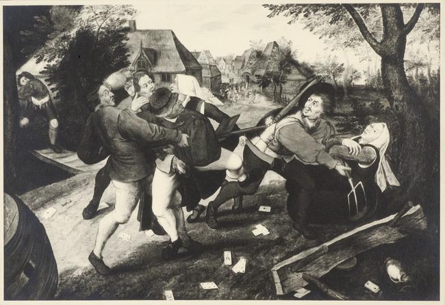 "<a class=""recordlink artists"" href=""/explore/artists/13293"" title=""Pieter Brueghel (II)""><span class=""text"">Pieter Brueghel (II)</span></a> or studio of <a class=""recordlink artists"" href=""/explore/artists/13293"" title=""Pieter Brueghel (II)""><span class=""text"">Pieter Brueghel (II)</span></a> after <a class=""recordlink artists"" href=""/explore/artists/13292"" title=""Pieter Bruegel (I)""><span class=""text"">Pieter Bruegel (I)</span></a>"