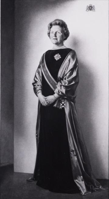 Portret van Juliana Louise Emma Marie Wilhelmina van Oranje- Nassau (1909-2004)